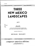 Three New Mexico Landscapes for Clarinet and Piano